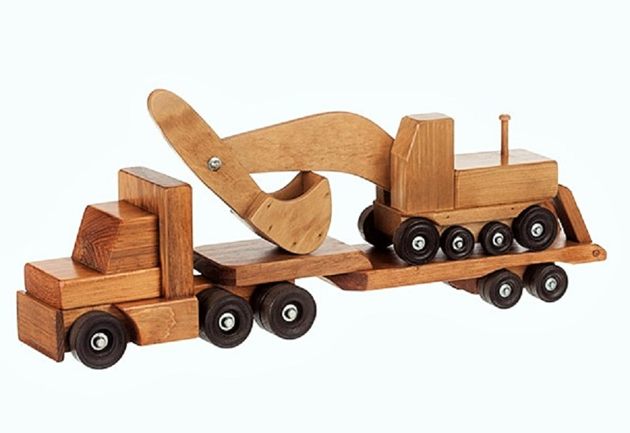 Low Boy Toys : Wooden toy trucks amish made amishshop
