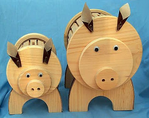 Wooden Piggy Bank Amish Made Amishshop Com