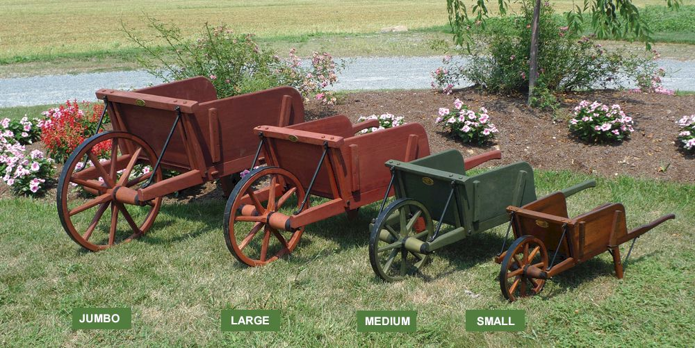 Amish Wooden Wheelbarrows Amishshop Com