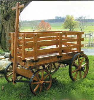 Amish Wooden Buckboard Pumpkin Goat Pony Peddler Hitch